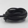 เชือกหนังแบน สีดำ ขนาด 4 mm.