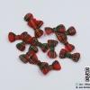 โบว์ลายสก๊อตสีแดง เขียว (แพ็ค 15 ชิ้น)