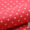 ผ้าสักหลาด พิมพ์ลายหัวใจ สีแดง