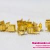 ตัวหนีบปลายเชือก สีทอง ขนาด 4x7 มิล [แพ็ค 40 ชิ้น]