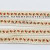 ผ้าลูกไม้ สีครีม พิมพิ์ลายดอกไม้ ขนาด 2 ซม.