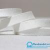 เชือกหนังชามุด สีขาว ขนาด 10 mm.