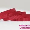 ริบบิ้นผ้า กรอสเกรน สีแดงเข้ม ขนาด กว้าง 6 mm.