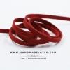 เชือกหนังชามุด สีแดง ขนาด 5 mm.