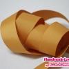 ริบบิ้นผ้า กรอสเกรน สีส้มอ่อน ขนาด กว้าง 25 mm. [สีพื้น]