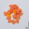 โบว์ลายสก๊อตสีส้ม (ขอบหยัก) (แพ็ค 15 ชิ้น)
