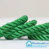 เชือกพันเกลียว สีเขียว ขนาด 5 mm.