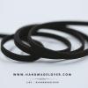 เชือกหนังชามุด สีดำ ขนาด 5 mm.