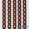 เชือกพีวีซี PVC ถัก สีแดง-ขาว-ดำ ขนาด 10 mm.