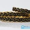 เชือกพีวีซี PVC ถัก สีดำขอบทอง