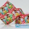 ริบบิ้นผ้า กรอสเกรน พิมพิ์ลายเจ้าหญิงดิสนีย์ / Disney Princess ขนาด 22 มิล