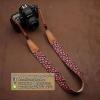 สายคล้องกล้องลายสตอเบอรี่น่ารัก Vintage black Strawberry