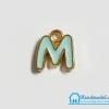 """จี้ ตัวอักษร เคลือบสีมินท์ รูป ตัว """"M"""""""