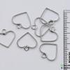 จี้โลหะ สไตล์มินิมอล ( minimal style ) รูปหัวใจ (เล็ก) สีนิเกิล ขนาด 18 mm.