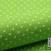 ผ้าสักหลาด พิมพ์ลายจุดเล็ก สีเขียวใบตองอ่อน