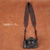 สายคล้องกล้อง cam-in Grand Brown สีน้ำตาลเส้นใหญ่