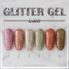 สีเจลทาเล็บ ZYZC ชุดกากเพชรละเอียด 6สี Glitter gel polish