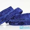 ริบบิ้นผ้ากากเพรช สีน้ำเงิน ขนาด 10 มิล