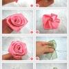 สอนทำดอกไม้ประดิษฐ์ ด้วนริบบิ้น