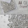 เพชรชวาAA สีขาวเงิน Crystal รหัส AA-01 คละขนาด ss3 ถึง ss30 ปริมาณประมาณ 1300-1500เม็ด