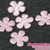 ดอกไม้ตกแต่งสีชมพูอ่อน ลายจุด ขนาด 22 MM. (แพ็ค 15 ชิ้น)