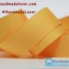 ริบบิ้นผ้า กรอสเกรน สีเหลืองส้ม ขนาด 25 mm. [สีพื้น]