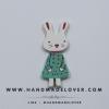 กระดุมไม้ กระต่าย สี ขนาด 55*20 mm [แพ็ค 3 เม็ด]