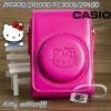เคสกล้องหนัง Case Casio EX-ZR1200 ZR1500 ZR1000 FC300S ZR400 ลายคิตตี้ Kitty Edition