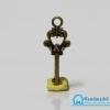 จี้โลหะ สีทองรมดำ รูปลูกกุญแจ