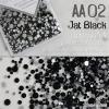 เพชรชวาAA สีดำ Jat Black รหัส AA-02 คละขนาด ss3 ถึง ss30 ปริมาณประมาณ 1300-1500เม็ด