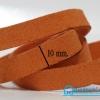 เชือกหนังชามุด สีส้มอิฐ ขนาด 10 mm.