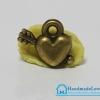 จี้โลหะ สีทองรมดำ รูปหัวใจ