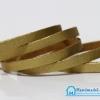 เชือกหนังชามุด ผิวมัน สีทอง ขนาด 5 mm.