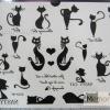 YM-K026 สติ๊กเกอร์สักแฟชั่น sticker tattoo ลายแมว15.5x10.8 cm