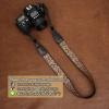 สายคล้องกล้องลายปักเก๋ๆ cam-in Nippon Wave-Brown