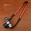 สายคล้องกล้อง cam-in Red Turkish ลายดอกไม้ถักสีแดง