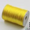 เชือกหางหนู ขนาด 2 มิล สีเหลือง ม้วน 100 หลา