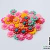 ดอกไม้ อะคริลิค [คละสี](บรรจุ 10 เม็ด)