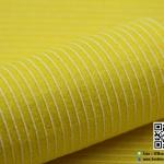 ผ้าสักหลาด พิมพ์ลายเส้น สีเหลือง