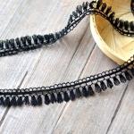 ผ้าลูกไม้ สีดำ สำหรับทำ Choker ขนาด 18 มม.