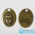 จี้โลหะ สีทองรมดำ ราศีสิงห์ (Leo Zodiac)