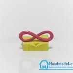 จี้โลหะ สีชมพูพาสเทล รูปอินฟินิตี้ (infinity)
