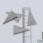 จี้โลหะ สไตล์มินิมอล ( minimal style ) รูปสามเหลี่ยม สีนิเกิล