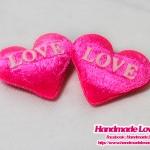 """หัวใจ สีชมพู พิมพิ์ """"LOVE"""""""