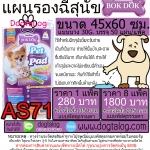 แผ่นรองซับฉี่สุนัข BokDok : AS71 (8 แพ็ค)