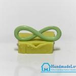จี้โลหะ สีเขียวพาสเทล รูปอินฟินิตี้ (infinity)