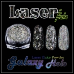 Laser flake : Galaxy Holo Powder ผงเกร็ดกาแล็กซี่ โฮโลแกรม สีเงินรุ้ง