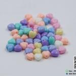 ลูกปัดพลาสติก รูปหัวใจ สีพาสเทล คละสี (แพ็ค 85 ชิ้น)