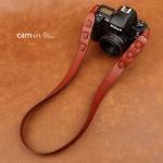 สายคล้องกล้อง cam-in หนังแท้ Splendid Genuine Leather สีไวน์แดง