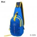 กระเป๋าสะพายข้าง-คาดหน้าอก D02N สีฟ้า(Blue)